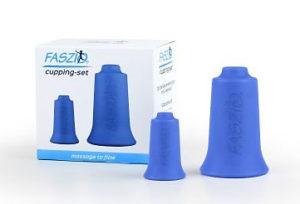 FASZIO® Cupping-Set vom BellaBambi beinhaltet einen Cup local und einen Cup allround